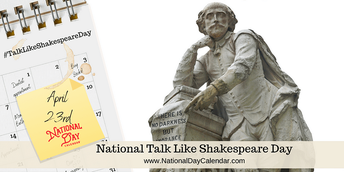 Teacher Resources- National Talk Like Shakespeare Day
