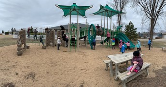 Checking out Pacen's park.