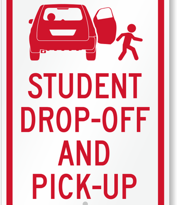 Have your student exit and enter your vehicle on the passenger side only.