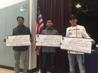 Three students earn College Tuition!