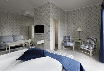 Sovrum på hotel Bretagne