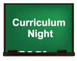 Curriculum Nights...