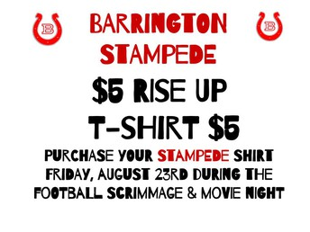 SIZES AVAILABLE 4T - 4X Stampede Shirts for everyone!