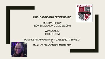 Mrs. Robinson, School Counselor