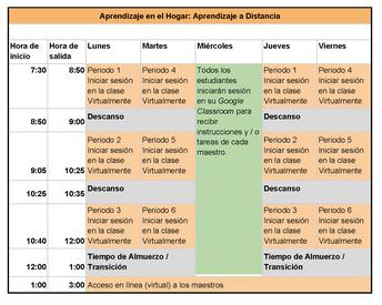 """Asistencia de los estudiantes en el Modelo de Aprendizaje """"en el Hogar"""""""