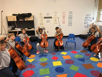 Cello Sectional Celebrating a great job!