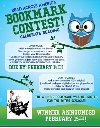 Read Across America Bookmark Contest!