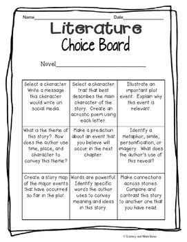 Using Choice Boards During Remote/Hybrid Learning