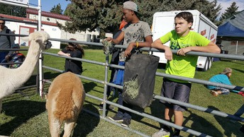 Middle Schoolers at the Latah County Fair