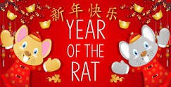 Year of the Rat- Lunar New Year Jan.25 - Feb.8th