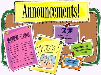 Weekly Announcements starring Mrs. Thirus