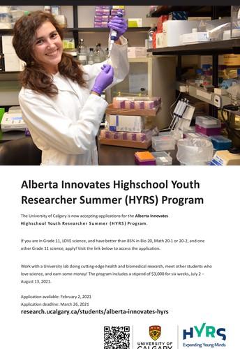 Alberta Innovates 2021 HYRS Program - University of Calgary