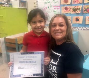 Julie Medina - September Student of the Month