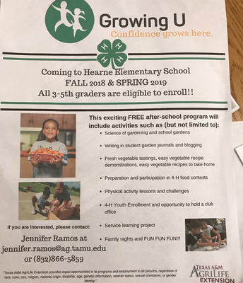 Calling all 3rd and 4th graders! Growing U is here!
