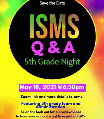 Incoming 5th Grade Info Night