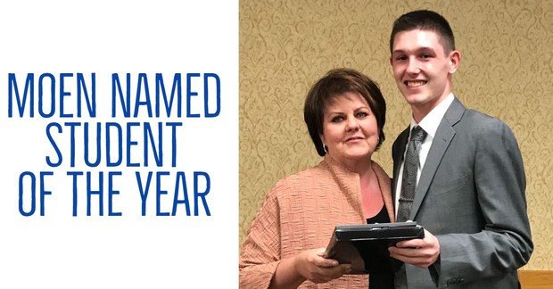 Moen Named Student of the Year