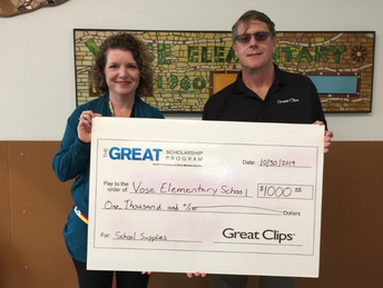 Donation from Great Clips