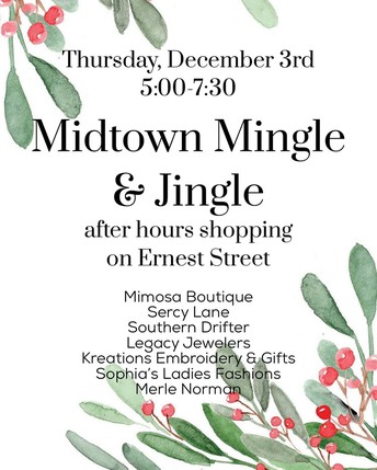 SHOP AT SOUTHERN DRIFTER TODAY UNTIL 7:30 P.M.