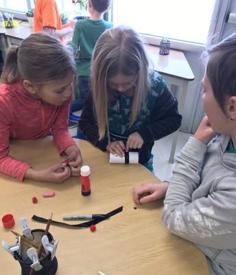 Mrs. Sparrow/Mrs Bauml's class made Snowball Shooters