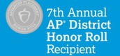 SHS RECOGNIZED FOR AP DISTRICT HONOR ROLL