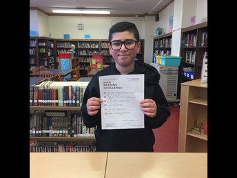 Our first proud MS 51 Reading Challenge finisher