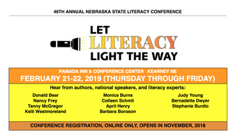 Nebraska State Literacy Conference - February 21-22, 2019 in Kearney