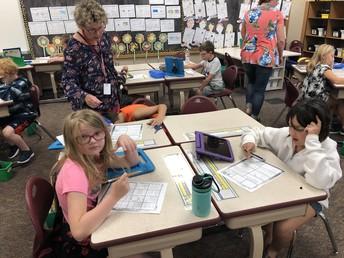 Students hard at work