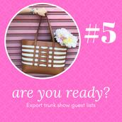 #5 - Export Trunk Show Guest Lists