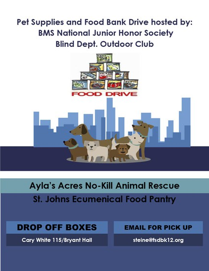 Pet Supplies and Food Bank Drive Flyer