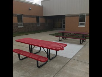 ADA Approved Picnic Tables for students and staff!