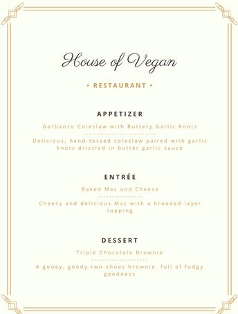 Culinary Art 3 presents - House of Vegan !