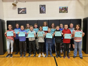 6th Grade All A Honor Roll