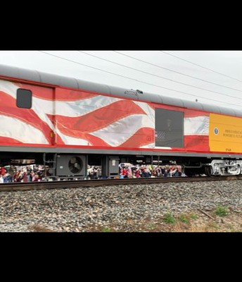 Train car carrying the President