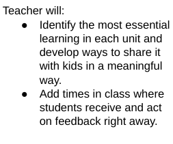 Teacher Actions