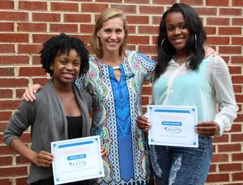 GRASP Advisor Leeann Neely with students at Henrico High School.