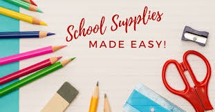 Order School Supply Kits by June 11th!