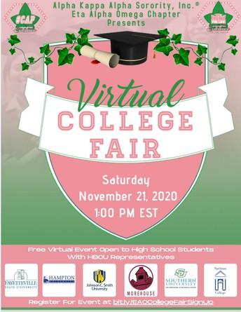 Alpha Kappa Alpha Virtual College Fair