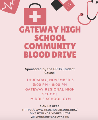 GRHS Student Council Blood Drive