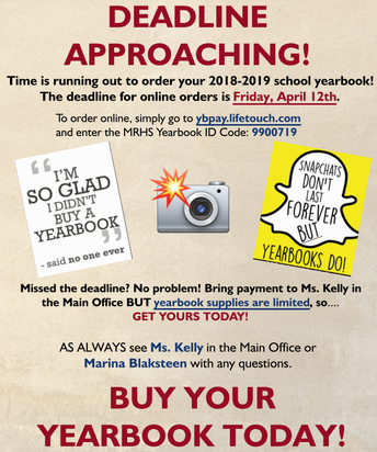 Last Day to Buy Your Yearbook