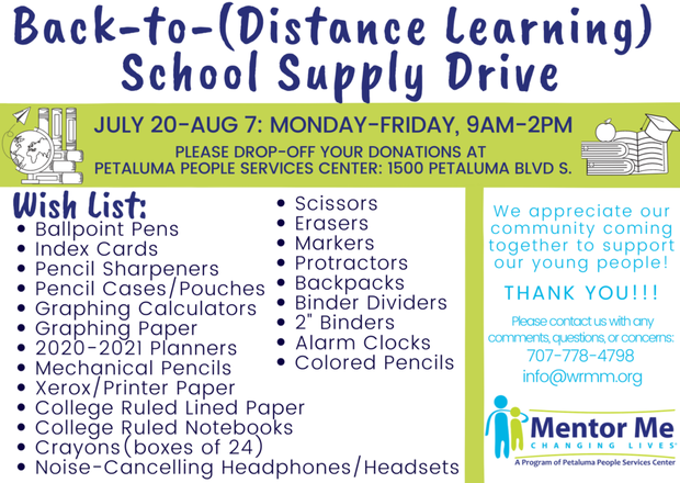 Mentor Me - Back to School Supply Drive