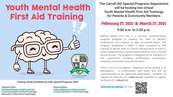 CISD Youth Mental Health First Aid Training