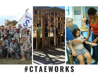 Career Technical Education Works photo collage