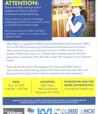 Manufacturing and Construction Career Info Session
