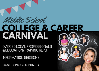 Tomorrow! College and career carnival for middle school students