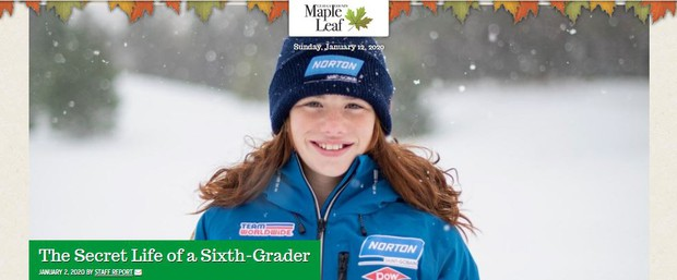 Chardon Middle School 6th grade student and USA Luge Team member Haidyn Bunker
