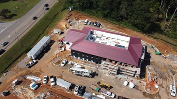 new central office under construction on highway 11 in Trussville