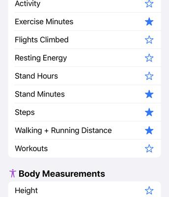 List of Available Health Data