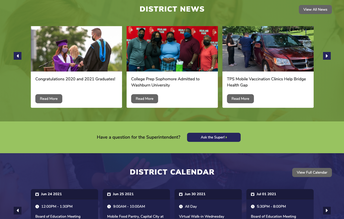 District News section of TPS web site