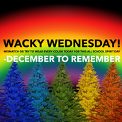 Wed. - Wacky clothes and/or rainbow
