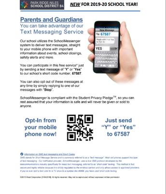 SchoolMessenger SMS Opt-In